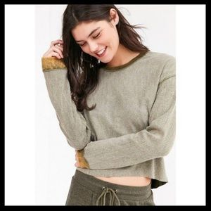 UO Out From Under Pullover Cropped Sweatshirt